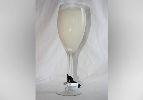 Champagne Glass Soy Candle Large Champagne Flute Glass soy candles (Tall)