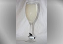 Champagne Flute Glass soy candles (Tall)