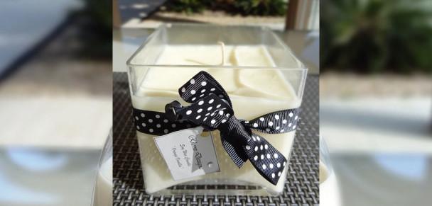 Rhonz Dezignz Square Lge 608x291 Square Glass Soy Candle (Sml)